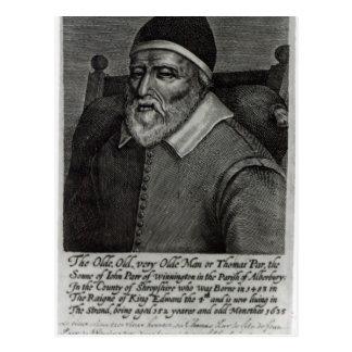 Vieux Parr de Tom, 1635 Carte Postale
