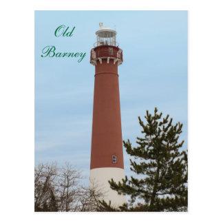 Vieux phare NJ de prise de bec Carte Postale