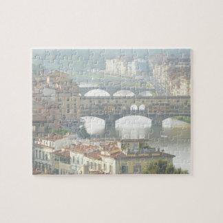 Vieux pont Florence Italie de Ponte Vecchio Puzzle