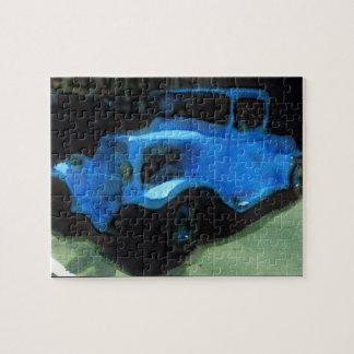 Vieux puzzle bleu de camion