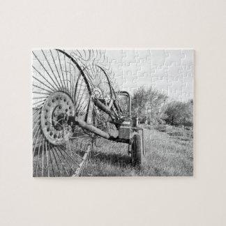 vieux puzzle de machines agricoles