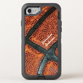 Vieux rétro motif de basket-ball avec le nom coque otterbox defender pour iPhone 7