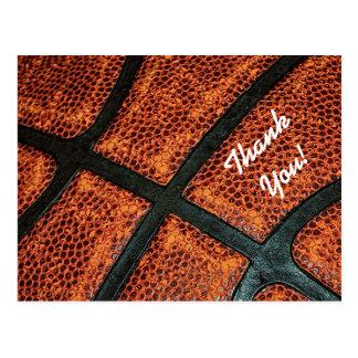 Vieux rétro motif de basket-ball de Merci Cartes Postales