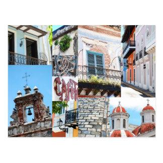 Vieux San Juan, Porto Rico - collage de photo de Carte Postale