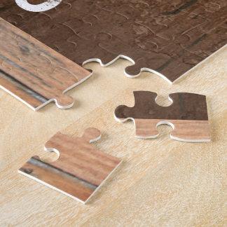Vieux signe personnalisé d'effet de barillet de puzzle