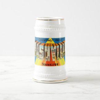Vieux souvenir vintage de voyage de Nashville Chope À Bière
