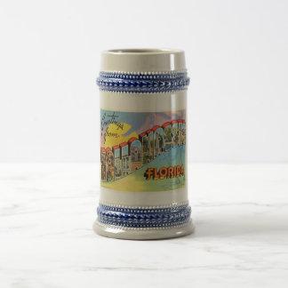 Vieux souvenir vintage de voyage de Tallahassee la Chope À Bière