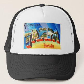 Vieux souvenir vintage de voyage de Tampa la Casquette