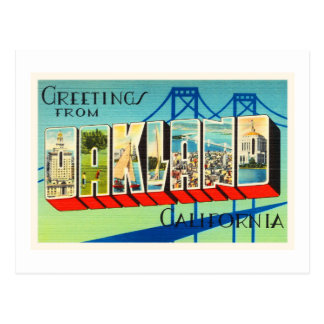 Vieux souvenir vintage de voyage d'Oakland la Cartes Postales