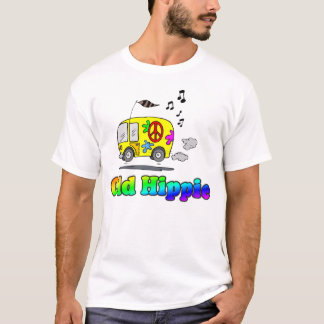 Vieux T-shirt hippie d'autobus