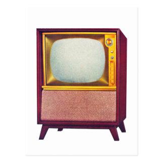 Vieux téléviseur vintage du kitsch TV Carte Postale