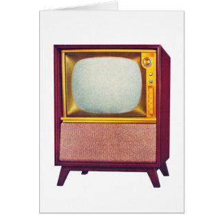 Vieux téléviseur vintage du kitsch TV Cartes