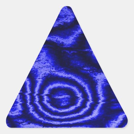 vieux tissu, bleu autocollants en triangle