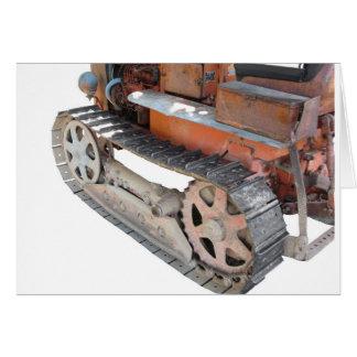 Vieux tracteur à chenilles italien cartes