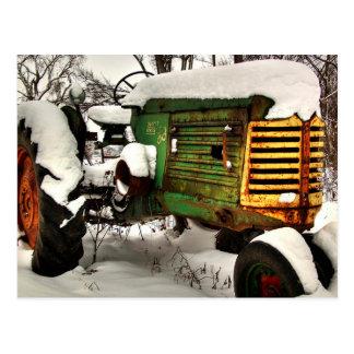 Vieux tracteur antique de ferme d'Oliver Carte Postale