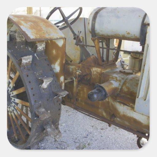 Vieux tracteur autocollants