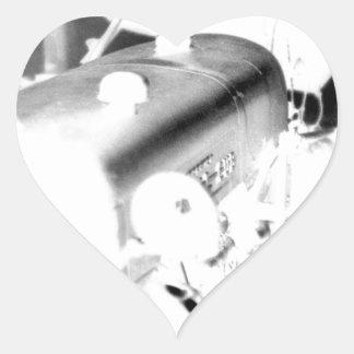 Vieux tracteur - négatif sticker cœur