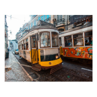 Vieux trams de Lisbonne Carte Postale