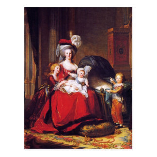 Vigée-Lebrun - Marie Antoinette et ses enfants Carte Postale