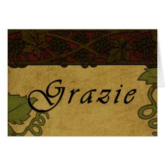 Vignes de Grazie - carte de remerciements