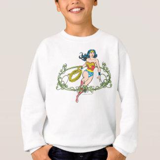Vignes de vert de femme de merveille sweatshirt
