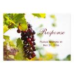 Vignoble de raisins d'établissement vinicole épous faire-parts