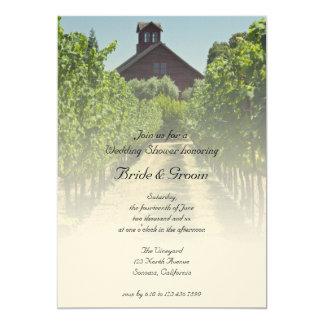 Vignoble et invitation rouge de wedding shower de