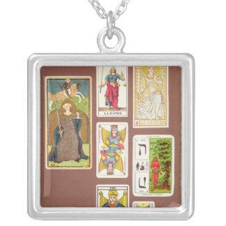 VIII justice, sept cartes de tarot Pendentif Carré