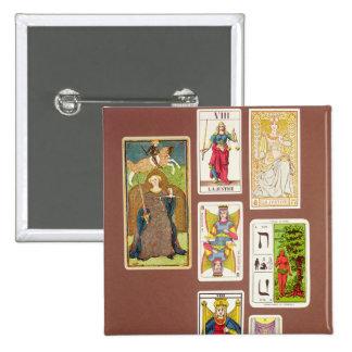 VIII justice, sept cartes de tarot Pin's