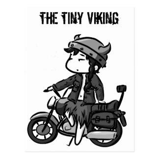 Viking faisant du vélo carte postale