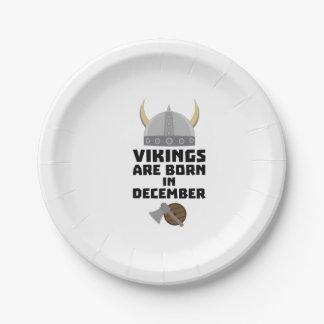 Vikings sont en décembre Zzun4 nés Assiettes En Papier