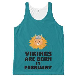 Vikings sont en février Z2htp nés Débardeur Tout-imprimé