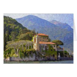 """""""Villa Balbianello, carte de voeux de Como de lac"""""""
