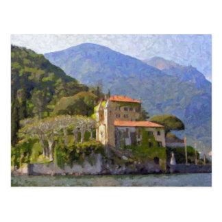 Villa Balbianello, carte postale de Como de lac