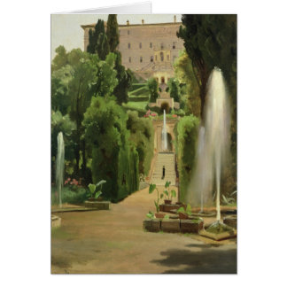Villa D'Este, Tivoli, 1869 Carte De Vœux