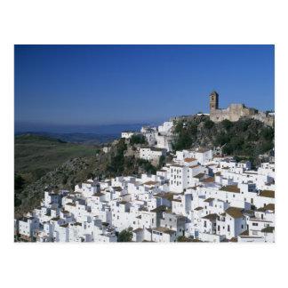 Village blanc de Casares, Andalousie, Espagne 2 Carte Postale