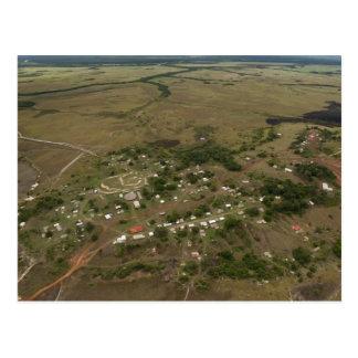 Village d'Amerindan. Saisonnier-inondé Carte Postale