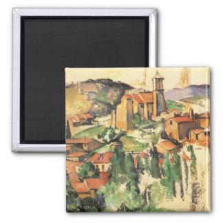 Village de Gardanne Cezanne, impressionisme Magnet Carré