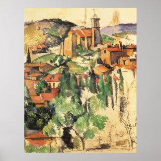 Village de Gardanne par Paul Cezanne, art vintage Posters