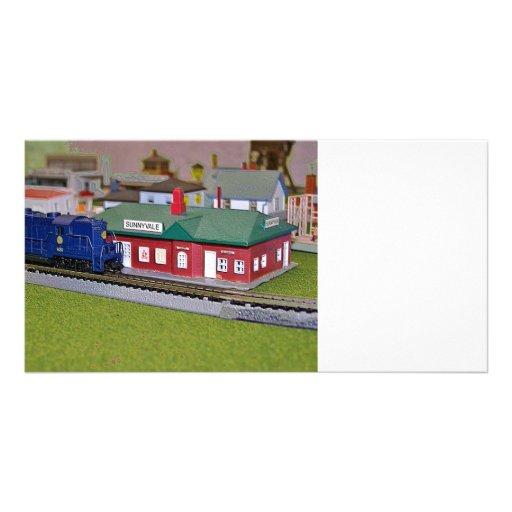 Village de train de modèle d'échelle de N Photocarte Customisée