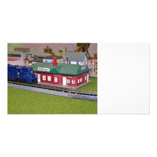 Village de train de modèle d'échelle de N Cartes De Vœux Avec Photo