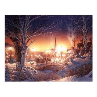 Village d'hiver de Noël Cartes Postales