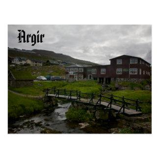 Village féroïen d'Argir : Carte postale