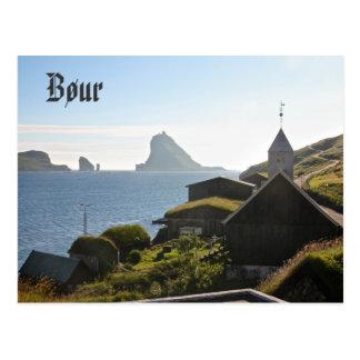 Village féroïen de Bøur : Carte postale