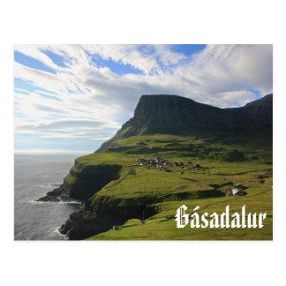 Village féroïen de Gásadalur : Carte postale