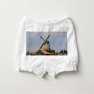Village néerlandais de moulin à vent, Hollande 3 Bloomer Pour Bébé