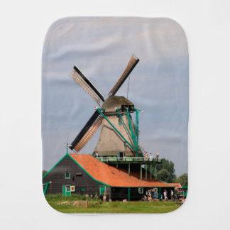 Village néerlandais de moulin à vent, Hollande 3 Linges De Bébé