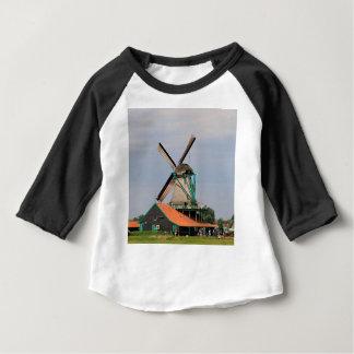 Village néerlandais de moulin à vent, Hollande 3 T-shirt Pour Bébé