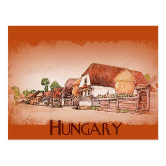Village vintage de la Hongrie Carte Postale