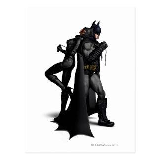 Ville   Batman de Batman Arkham et Catwoman Carte Postale